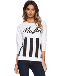 Zoe Karssen Misfits Cotton-Blend Sweatshirt - Lyst
