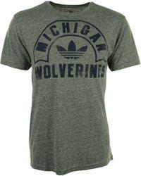 Adidas Mens Michigan Wolverines Tri-blend Graphic T-shirt - Lyst