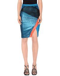 Three Floor Knee Length Skirt