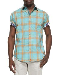 Robert Graham Sandstone Shortsleeve Sport Shirt Orange - Lyst