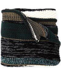 Umit Benan - Patchwork Knit Scarf - Lyst