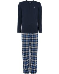 GANT - Flannel Pant And Long Sleeve T-shirt Gift Set - Lyst