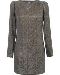 Blumarine Short Lurex Sheath Dress - Lyst