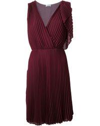 Philosophy di Alberta Ferretti Asymmetric Pleated Dress - Lyst