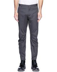 Lanvin Zip Cuff Cotton Twill Pants - Lyst
