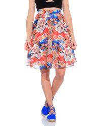 Carven Floral Skirt multicolor - Lyst