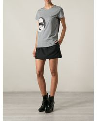 Carven Face Print Tshirt - Lyst