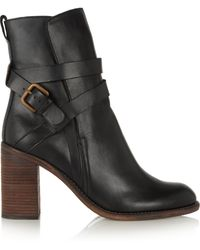 See By Chloé Brown Leather Boots - Lyst