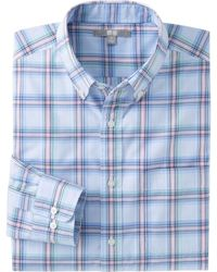 Uniqlo  Extra Fine Cotton Broadcloth Check Long Sleeve Shirt - Lyst