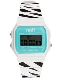 Neff - Digital Watch with Striped Strap - Lyst