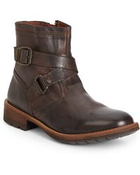 Steve Madden Napier Leather Ankle Boots - Lyst