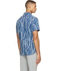 Red Ear - Indigo Leaf Print Shirt - Lyst