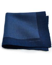 Ralph Lauren Black Label Linen Pocket Square - Lyst