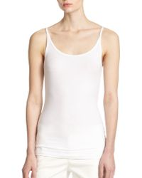 ATM Finely-Ribbed Modal Camisole - Lyst