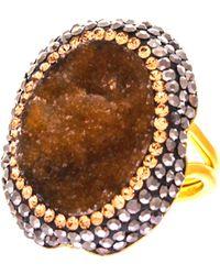 Soru Jewellery - Aventurine Large Ring - Lyst