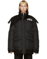 Hood By Air - Black Down And Wool Logo Jacket - Lyst
