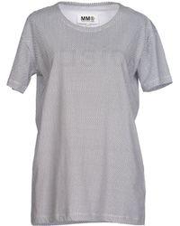Mm6 By Maison Martin Margiela T-shirt - Lyst