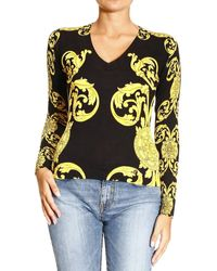 Versace Manica Lunga V Stampa Cage Baroque - Lyst