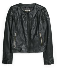Mango Leather Bomber Jacket - Lyst
