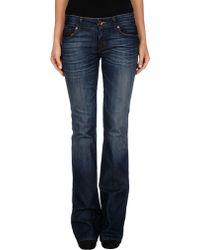 J Brand Blue Denim Pants - Lyst