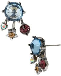 Betsey Johnson Mixed Faceted Bead Stud Earrings - Lyst