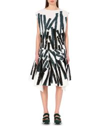 Marni Abstract-Print Dropped-Waist Dress - For Women - Lyst