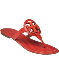 Tory Burch   Miller 2 Leather Flip-Flops   Lyst