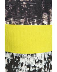 BCBGMAXAZRIA Print Combo Tank Dress in Black - Lyst