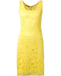 Alberta Ferretti Lace Fitted Dress - Lyst