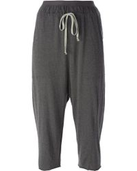 Rick Owens Lilies | Cropped Drawstring Track Pants | Lyst