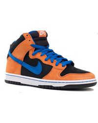 "Nike Dunk High Premium ""Syracuse"" In Deep Orange/Blue Sapphire/Black blue - Lyst"