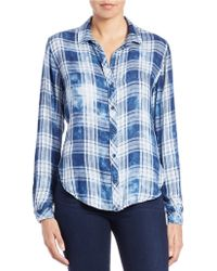 Cloth & Stone - Distressed Plaid Shirt - Lyst