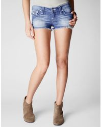 True Religion Hand Picked Cutoff with Flap Disco Womens Short - Lyst
