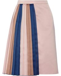 Vionnet Pleated Satin Skirt - Lyst