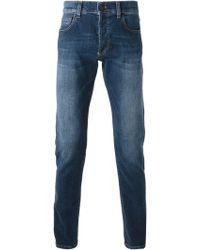 Alexander McQueen Blue Skinny Jeans - Lyst