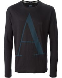 Armani Jeans Long Sleeve T-Shirt - Lyst