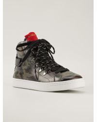 Dolce & Gabbana Camouflage Hi-Top Trainers - Lyst
