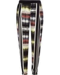 River Island Black Abstract Print Joggers - Lyst