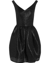 Carven Glossed Faux Raffia Dress - Lyst