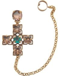 Tory Burch Jewelled Drop Cuff Earrings - Lyst
