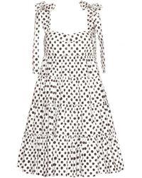 Dolce & Gabbana Polka-Dot Cotton Dress - Lyst