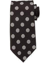 Tom Ford Textured Large-Dot Woven Tie - Lyst