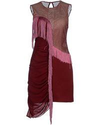 Three Floor Short Dress purple - Lyst