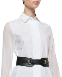 McQ - Equestrian Faux Leather Cinch Belt - Lyst