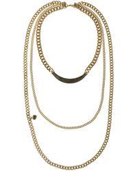Sam Edelman Triple Layered Chain Necklace - Lyst