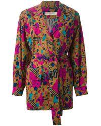 Yves Saint Laurent Vintage Printed Jacket multicolor - Lyst