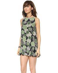 Elkin - Basset Dress Green Havana Print - Lyst