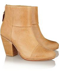 Rag & Bone Classic Newbury Textured-Leather Boots - Lyst