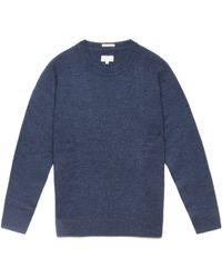 Gant Rugger | Dark Navy Melange Shetland Sweater | Lyst