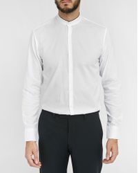 Sandro | White Pearl Standing-collar Shirt | Lyst